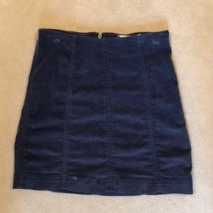 Free People Navy Modern Femme Cord Mini Size 2